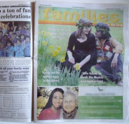 April Jonquil & Mani Navasothy in Enfield Gazette News March 2012