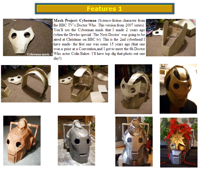 The making of the `New Cyberman' mask & Cyber-Sun