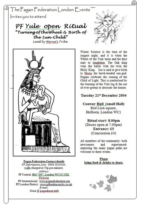 flyer - PFL Yule 21Dec2004 Ritual by Herns Tribe