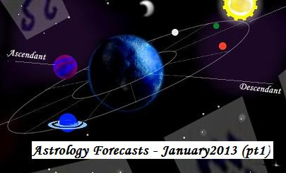 Astrology forecasts (horoscopes) January 2013 -pt1 (c)ManiNavasothy