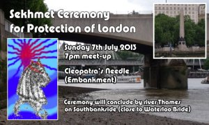 Submerging Sekhmet - a 7/7 River Thames Ceremony for protection of London