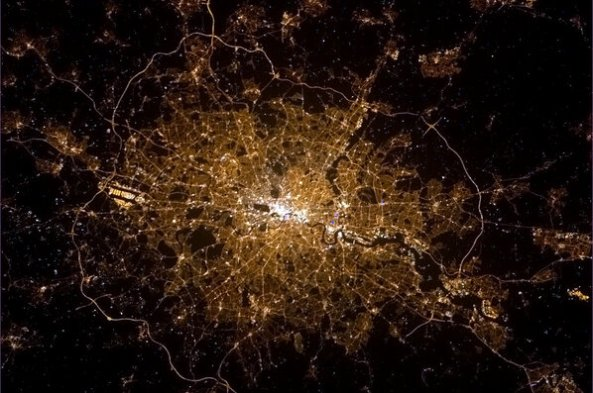 London Photo from International Space Station