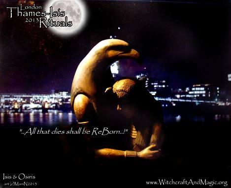 Tamesa London Circle presents `Thames-Isis' rituals.    Isis & Osiris (c) Mani Navasothy2013