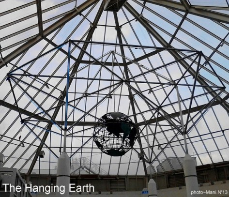 Hanging Earth - A sculpture in the ceiling of at Sutton Shopping centre  (c) ManiN13