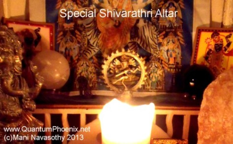 Personal Shivarathri altar 10march2013
