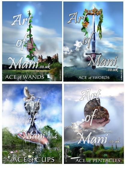 Tarot - Ace Cards (c) Mani Navasothy 2013