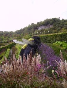 Giant Bee display at Eden Project .  Photo (c) Vathani  Navasothy. 2013