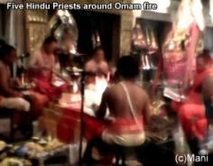 Hindu Priests & omam fire