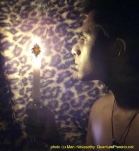 mani- phoenix magic with candle & breath