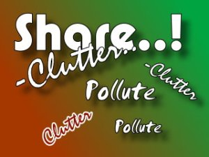 share vs clutter in internet