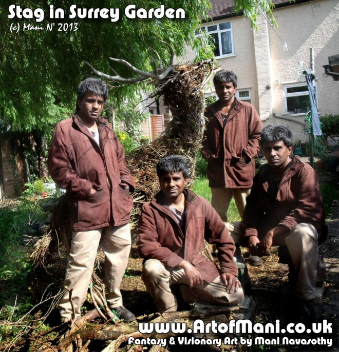 Stag Lord found in Surrey Garden - photo- Mani Navasothy 2013
