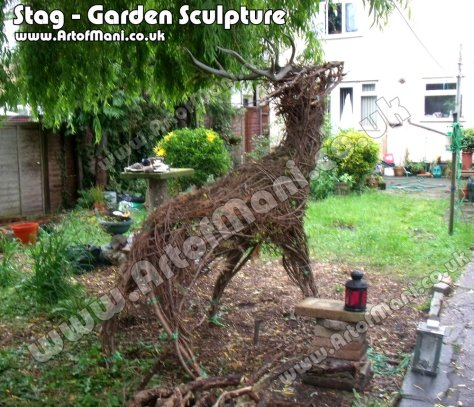 Stag sculpture - Art of Mani-co-uk