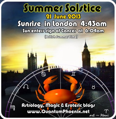 Summer solstice 2013 London bst data - by Mani Navasothy