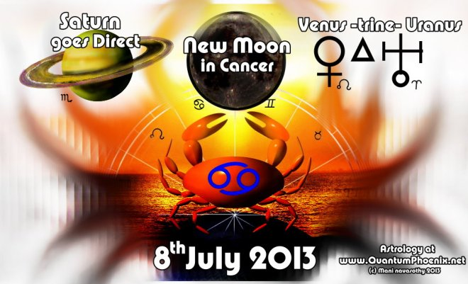 new moon in cancer ..aided by energies of saturn going direct