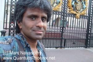 Mani Navasothy (me) outside the gates of Buckingham Palace 22 July 2013