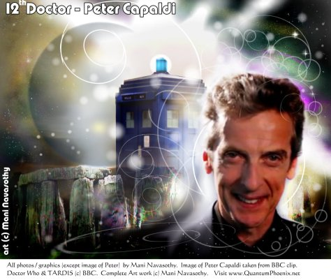 12th Doctor - Peter Capaldi  - Art (c) Mani Navasothy 2013.   Visit moref my  oart at www.ArtofMani.co.uk