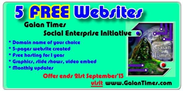 Gaian Times Magazine- Free website offer -Sept 2013