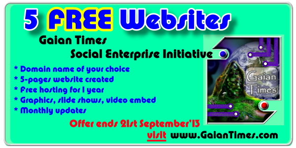 Gaian Times Magazine- Free website offer -Sept 2013