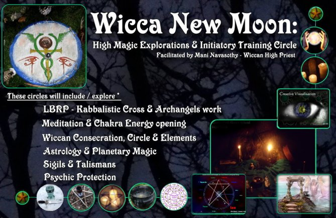 Wicca New Moon Autumn 2017 High Magic circle