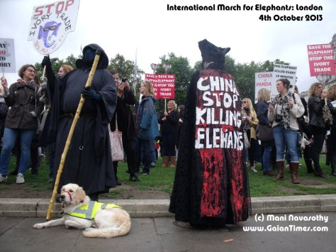 Death Takes a Holiday..at The March for Elephants (London, Westminister)