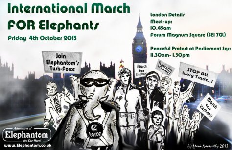 March for Elephants london 2013