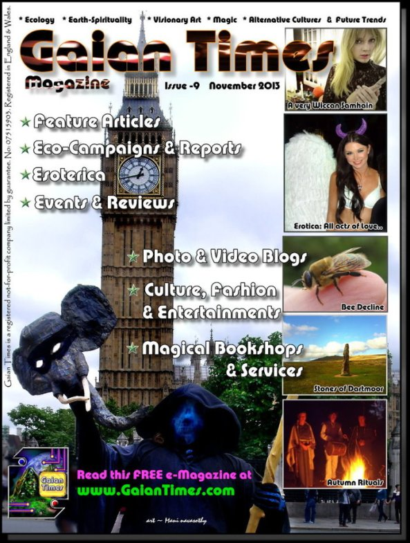 Cover- Gaian Times #9 Nov2013