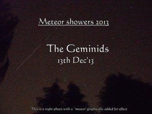 Geminids Meteor showers 13Dec13 (c) Mani Navasothy