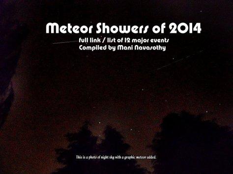 Meteor showers 2014  -bg2
