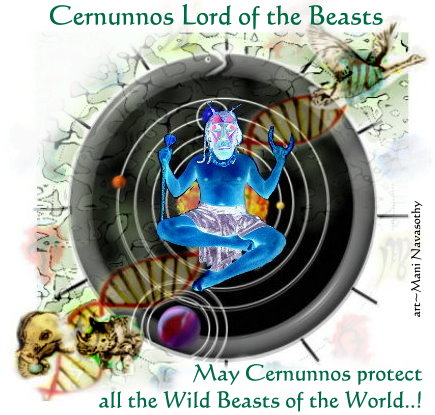 Invoking Cernunnos -Lord of the Beasts.. (c) www.ArtofMani.co.uk 2014