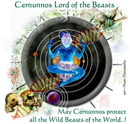 Invoking Cernunnos -Lord of the Beasts.. (c) www.ArtofMani.co.uk 2014