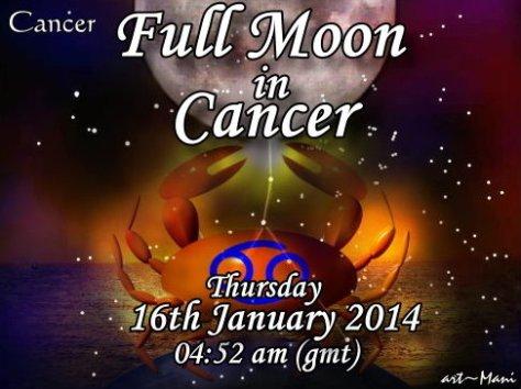 Full Moon in Cancer 16Jan14 -Mani Navasothy