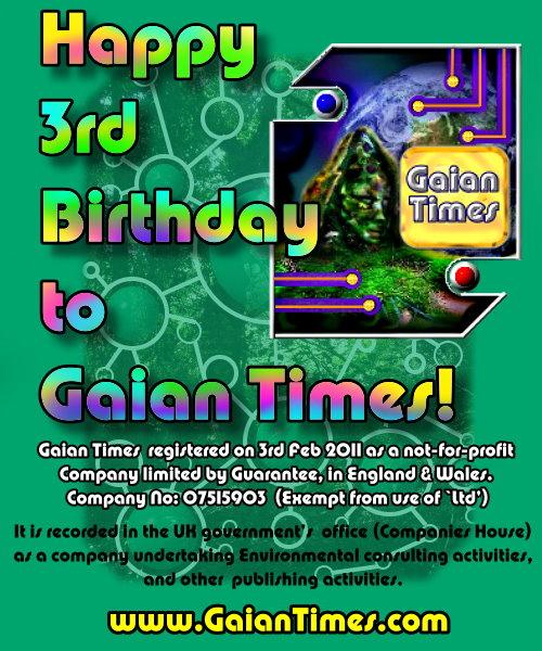 Gaian Times 3rd Birthday - Feb2014