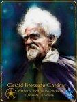Gerald Brosseau Gardner -father of wicca -art (c) Mani Navasothy 2014