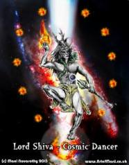 Lord Shiva Cosmic Dancer (Hind God of creation and destruction)   Art -ManiN'13