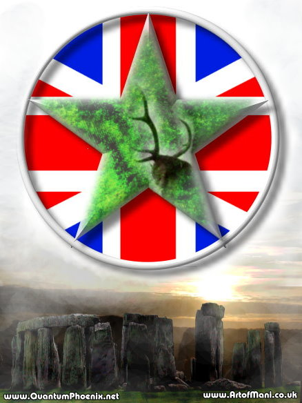 Pagan Britain - stag & Star flag (c) Mani Navasothy 2014