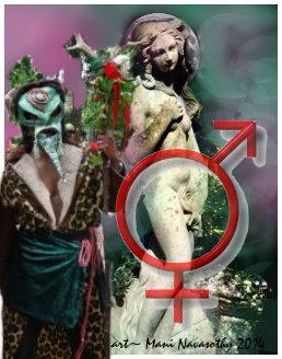 Pan & Venus - with Mars & venus joint symbols (c) Mani Navasothy 2014