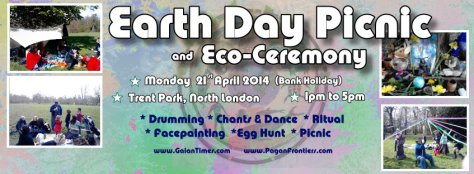 Earth Day Picnic 21april2014 at Trent park- north London, with Earth Healing Ritual