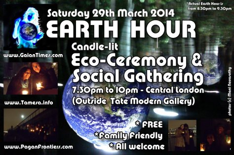 Earth Hour 2014- central london ceremony & social - FREE