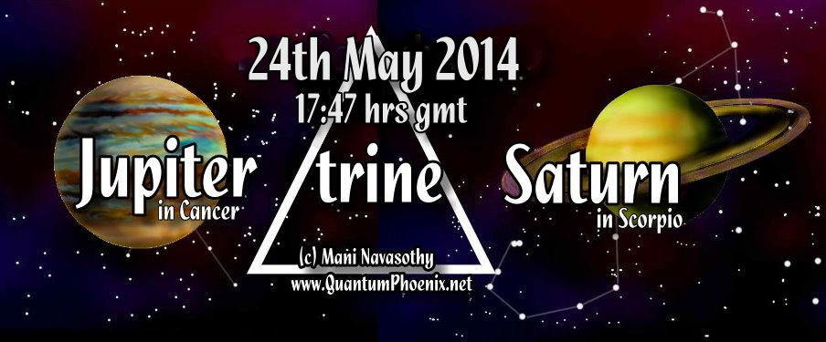 Jupiter trine saturn May2014 - 5.47pm (gmt)