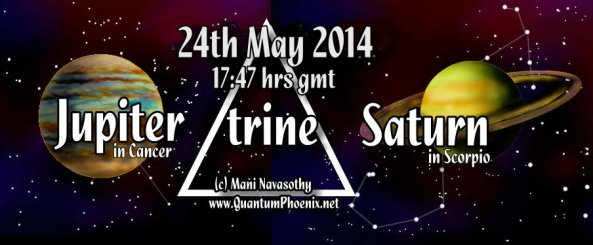 Jupiter trine saturn May2014 - 5.47pm (gmt)