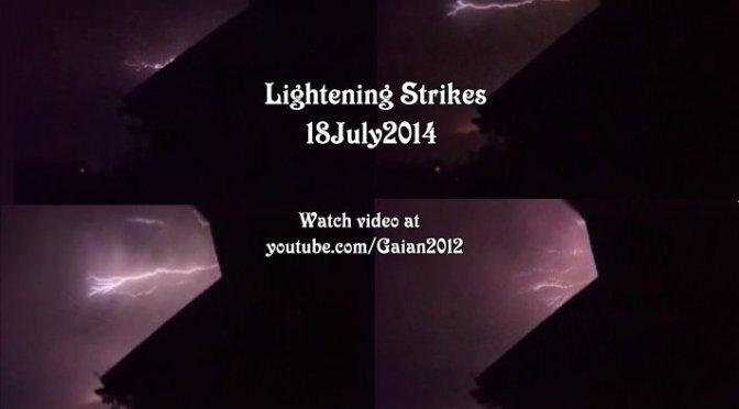 Lightening Strikes Video clips (England)