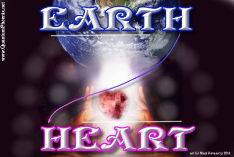 Earth-Heart    Art (c) Mani Navasothy 2014