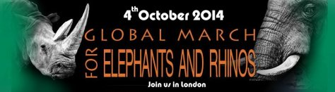 Globall March for Elephants & Rhinos - London 4Oct2014