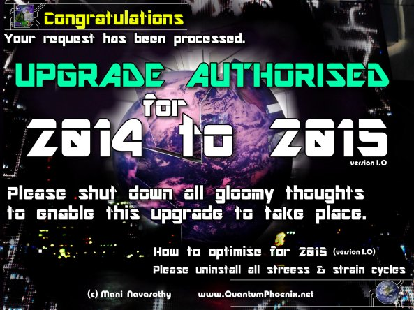 Congratulations. Upgrade to 2015 authorised!   (c) www.ManiNavasothy.com