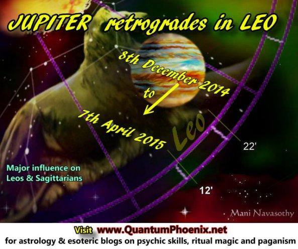 Jupiter retrograde 8dec2014 to 7April2015
