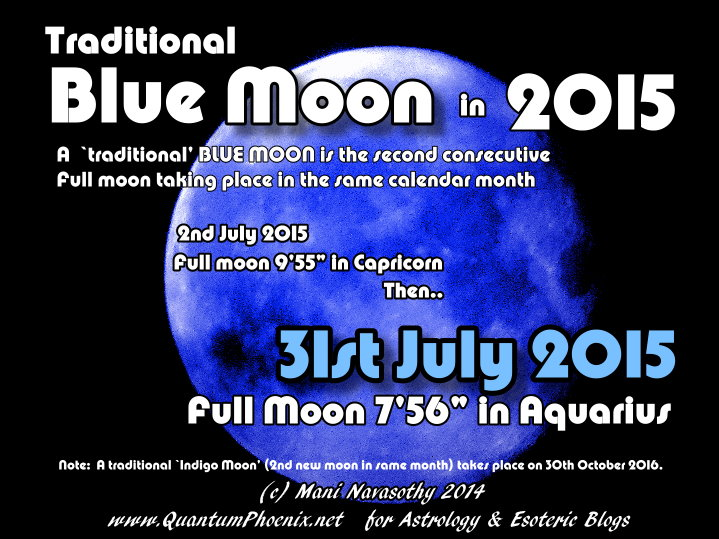 Astrology: Indigo Moon & Blue moon in 2015 | QuantumPhoenix net
