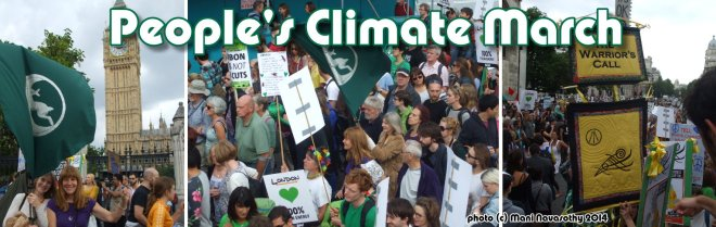 People's climate march  - Sept 2014.    photo (c) Mani Navasothy 2014