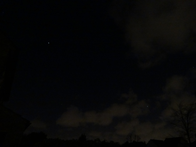 Jupiter (top left) Venus (bottom right)  - Photo taken on 5thMay'15 @22:17hrs gmt from S.London  (c)MN