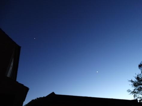 Jupiter & Venus  in Western sky at 21:33hrs