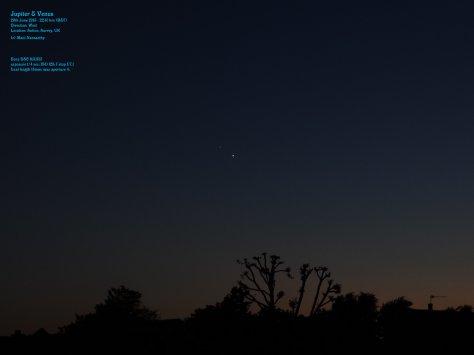 Jupiter conjunct Venus 29June2015